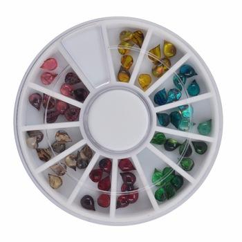 YZWLE 1 Wheel Nail Art Rhinestone & Decoration For DIY Nails Art Accessory Fashion Decorations Beauty Tools #JS05