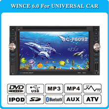 universal 2 two Din 6.2 inch Car DVD player  audio Radio stereo,Bluetooth/TV,digital touch screen