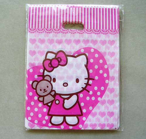 Free shipping wholesale 200pcs/lot Hello kitty plastic gift / apparel / shopping/ Grocery Bag 35*45CM(China (Mainland))