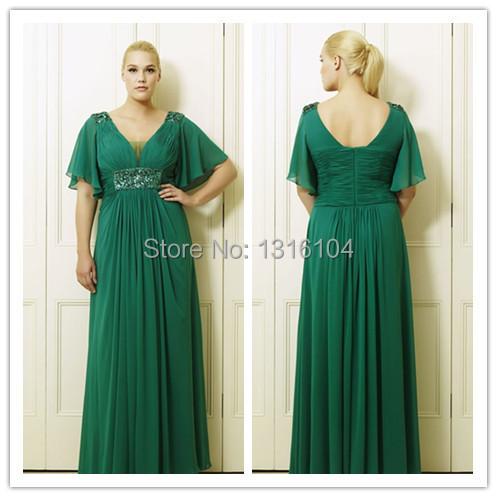 Plus size wedding dresses green