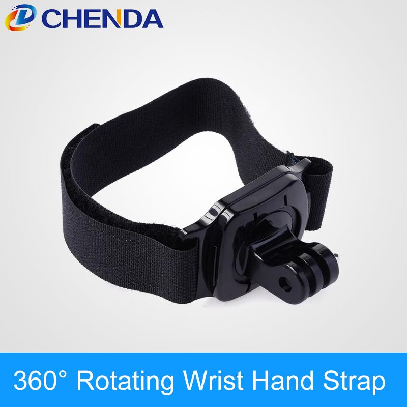 Gopro Accessories 360 Degree Rotating Wrist Hand Strap Band Tripod Mount Holder GoPro Hero 4 3+ SJ4000 Action Camera eken - ChenDa store