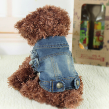 Pet Cat Puppy Soft Blue Jean Dog Coat Jacket Spring Autumn Dog Clothes XS S M L XL New Fashion(China (Mainland))