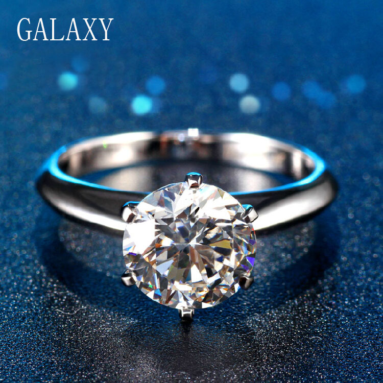 Galaxy brand hearts and arrows 2 carat simulated diamond for Jewelry storm arrow ring