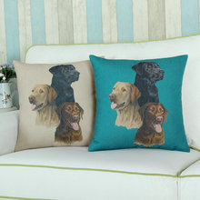 Euphoria Cotton Linen Lovely Labrador Dogs Cushion Covers