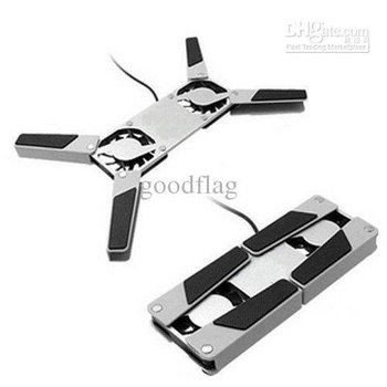 2014 Hot! With Two Fans(c025) newly MINI Foldiing USB Laptop Cooling Pads & Fans