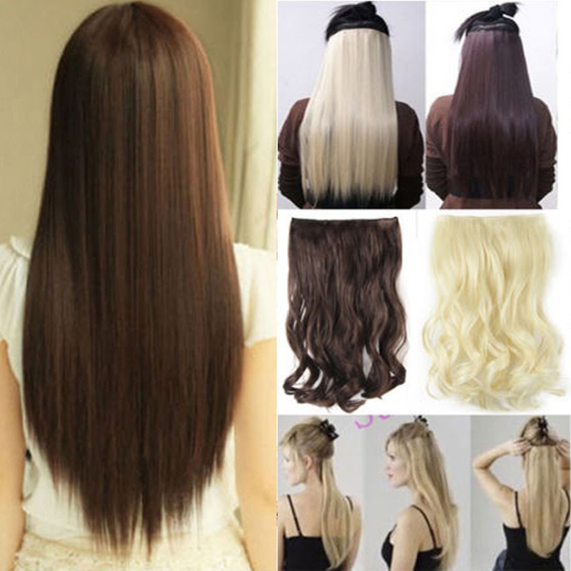 23 Women Long Straight 5 Pieces Clip In On Full Head Hair Extension 11Color USA Free Shipping<br><br>Aliexpress