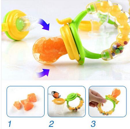 S/M/L New Kids Nipple Fresh Fruits Pacifier Food Milk Nibbler Feeder Feeding Safe Baby Supplies Nipple Teat Pacifier Bottles Top<br><br>Aliexpress