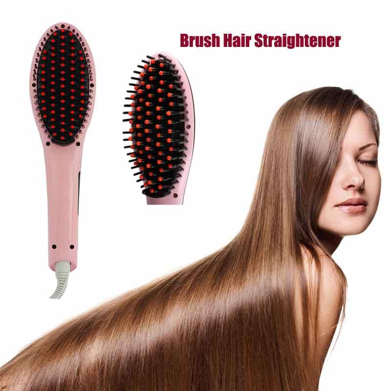 Гаджет  Free Shipping Brush Hair Straightener Comb Irons Electric Hair Straightener Brush  Anti Scald Comb Auto Massager None Красота и здоровье