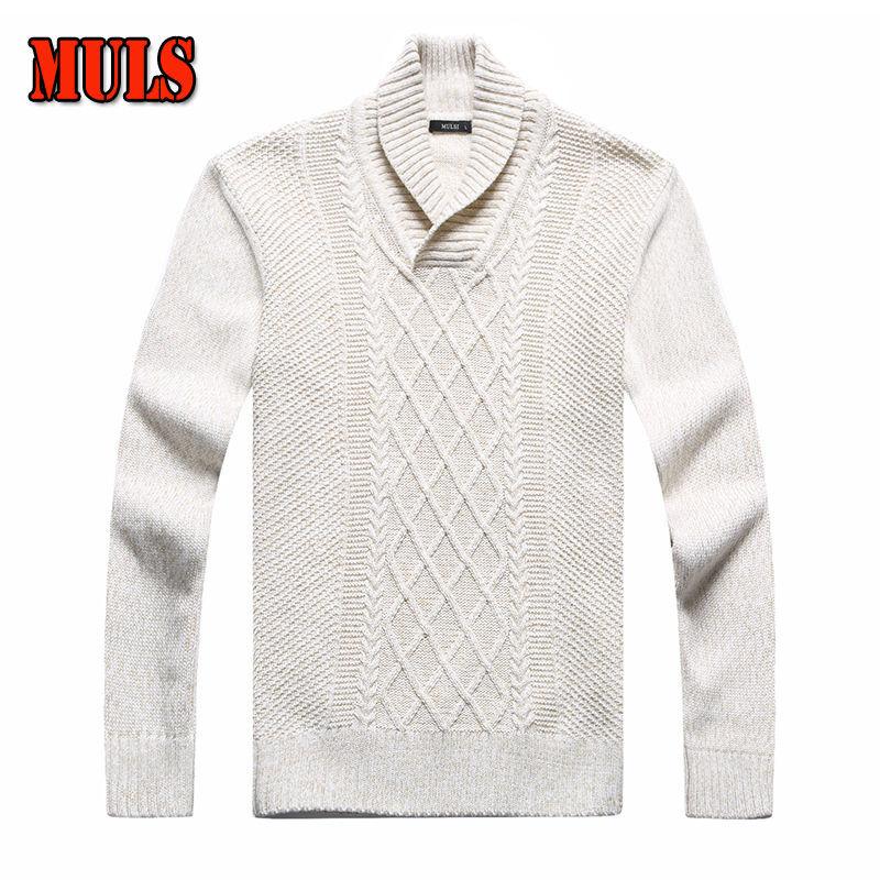 White Long Sleeve Render Sweaters Men Turtleeck Pullovers Render Knitting Cas...