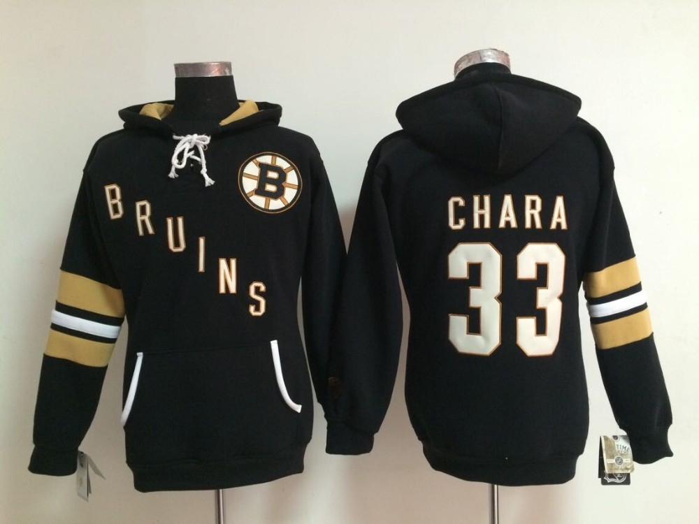 Women #33 Zdeno Chara Old Time Bruins Hockey Hoodie Jersey Sweatshirt Jerseys, Stitched sewn Numbering Lettering.(China (Mainland))