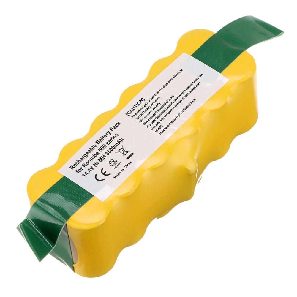 2pack 14.4V 3500 mah NI-MH Vacuum Battery For iRobot Roomba 500 501 510 530 540 550 610(China (Mainland))