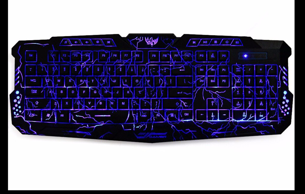 Игровая клавиатура со светодиодами фото