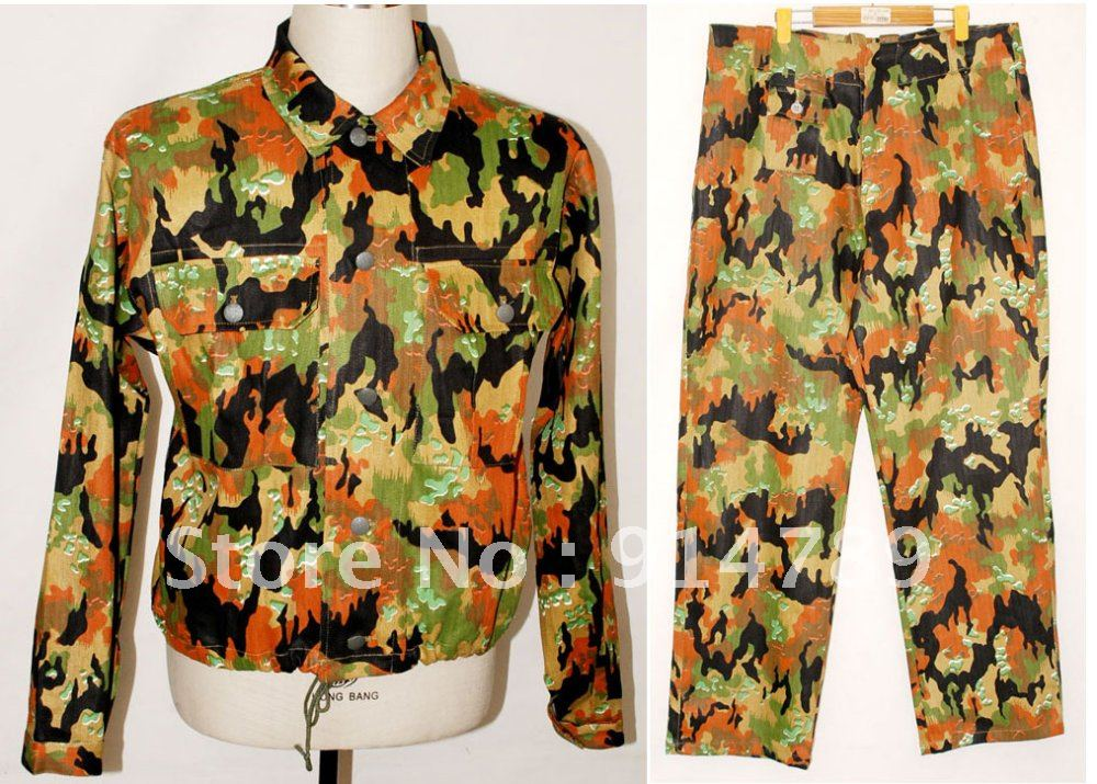 WW2 GERMAN M45 LEIBERMUSTER CAMO TUNIC &amp; TROUSERS IN SIEZS-3723Одежда и ак�е��уары<br><br><br>Aliexpress