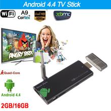 CX919 Android 4.4 TV Stick Quad Core 2G/16G Bluetooth 4.0 1080P with XBMC DLAN External WiFi Antenna Mini PC Box tv Dongle(China (Mainland))