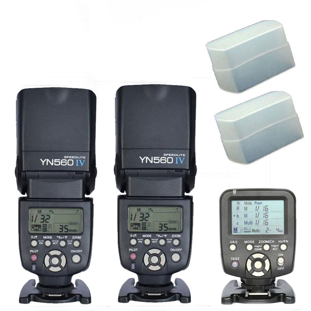 Yongnuo YN560TX LCD Wireless Flash Controller + 2pcs YN560 IV Flash kit For Nikon<br><br>Aliexpress