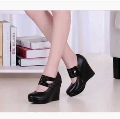 Comfortable Wedge Heels For Work | Tsaa Heel