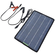 12V 10W Portable Solar Panel Multifunction Solar Battery Charger for Cars Boat Motorcycle Battery Maintainer(China (Mainland))