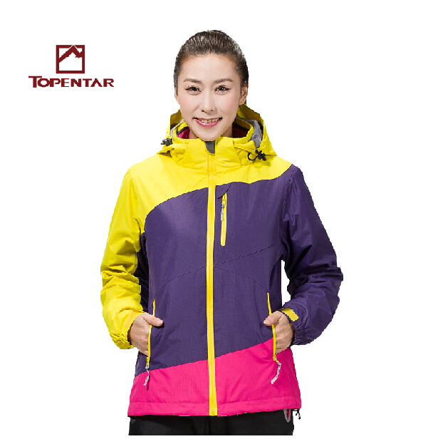 Dropshipping new arrival warm 3in1 winter waterproof hiking outdoor camping suit jacket snowboard jacket ski snow jacket women