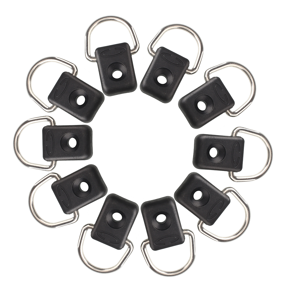 Brand New 10pcs Canoe Kayak D Ring Outfitting Rigging Bungee Accessory Boating Watersports Free Shipping(China (Mainland))