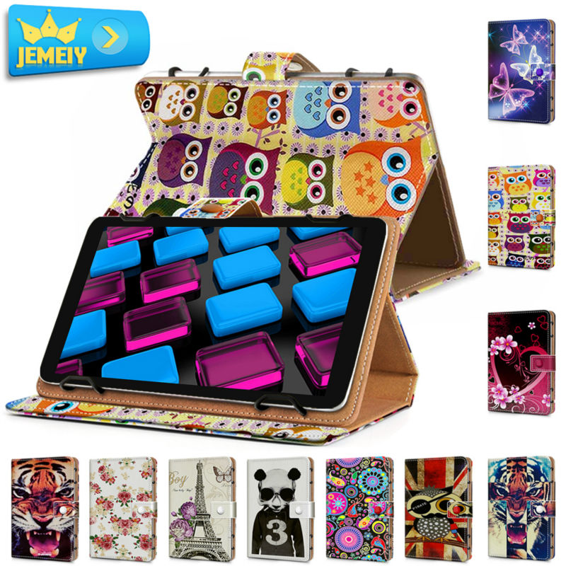10.1'' Leather Tablet Case For Toshiba Encore 2 Write10/Nec Lavie Tab E TE510 Universal Cover Printed Tablet Stand case For Nec(China (Mainland))