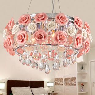 versandkostenfrei led rose kristall lampe schlafzimmer h ngeleuchte led licht in produkt option. Black Bedroom Furniture Sets. Home Design Ideas