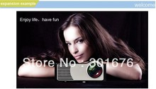 Free Shipping LED Mini projector  inch 800*600 support AV/VGA/HDMI/YPBPR/S-VIDEO/TV /SD best Home Cinema(China (Mainland))