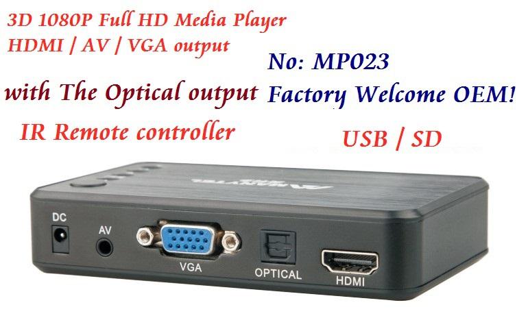 Full HD 1080P Car Media Player HDMI,AV output,3D HD TV SD/MMC Card reader/USB Host,Free Car adapter AV Cable and Free shipping!(Hong Kong)