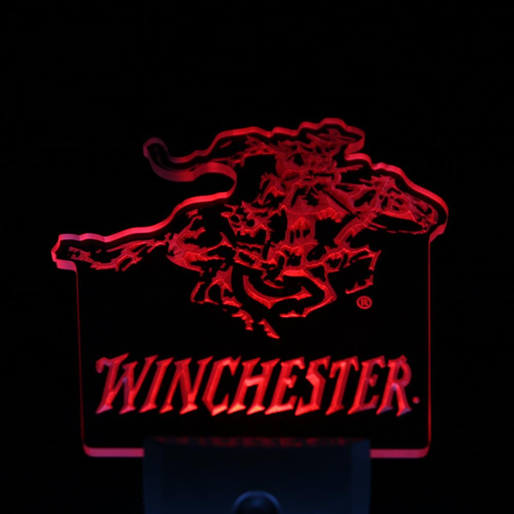 ws0080 Winchester Firearms Gun Logo Day/ Night Sensor Led Night Light Sign(China (Mainland))