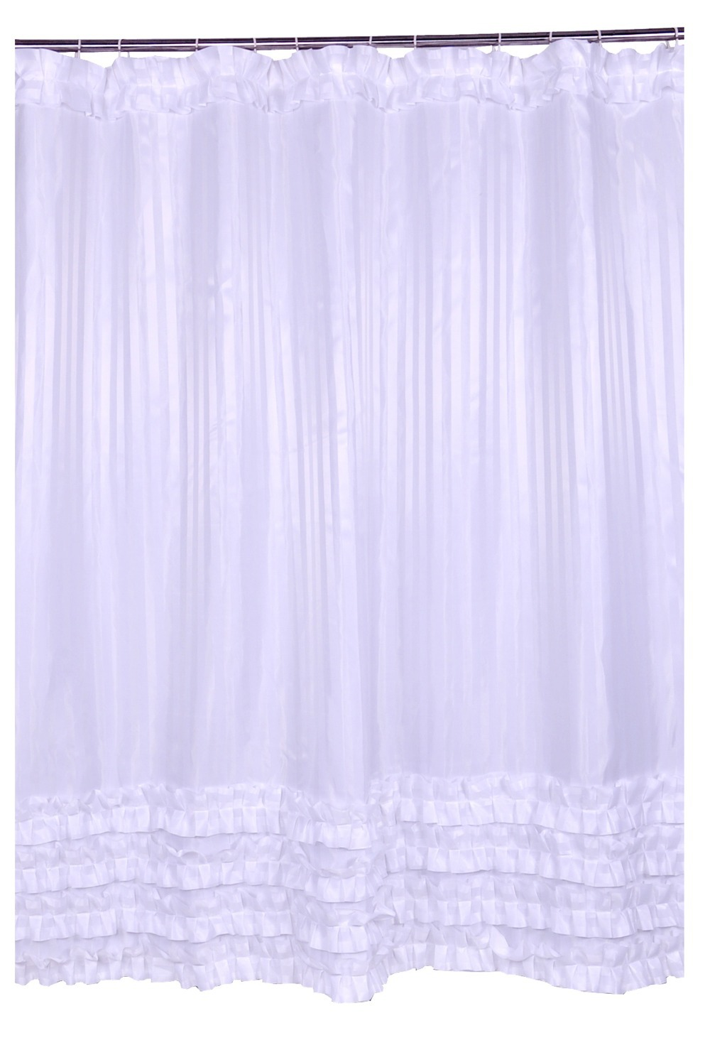 Buy 180cm White Shower Curtain Waterproof Fabric Bath With