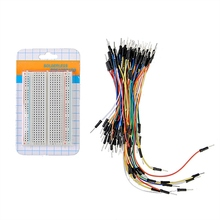 Newest !! Top Selling 400 Points Solderless Prototype Board Electronic Deck Test Board + 65pcs Breadboard Tie Line Wire Cable(China (Mainland))