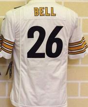 2016 Youth kid Top Gioventu Pittsburgh Steelers #84 Antonio Brown #7 Ben Roethlisberger,100% logo #26 LeVeon Campana,camouflage(China (Mainland))