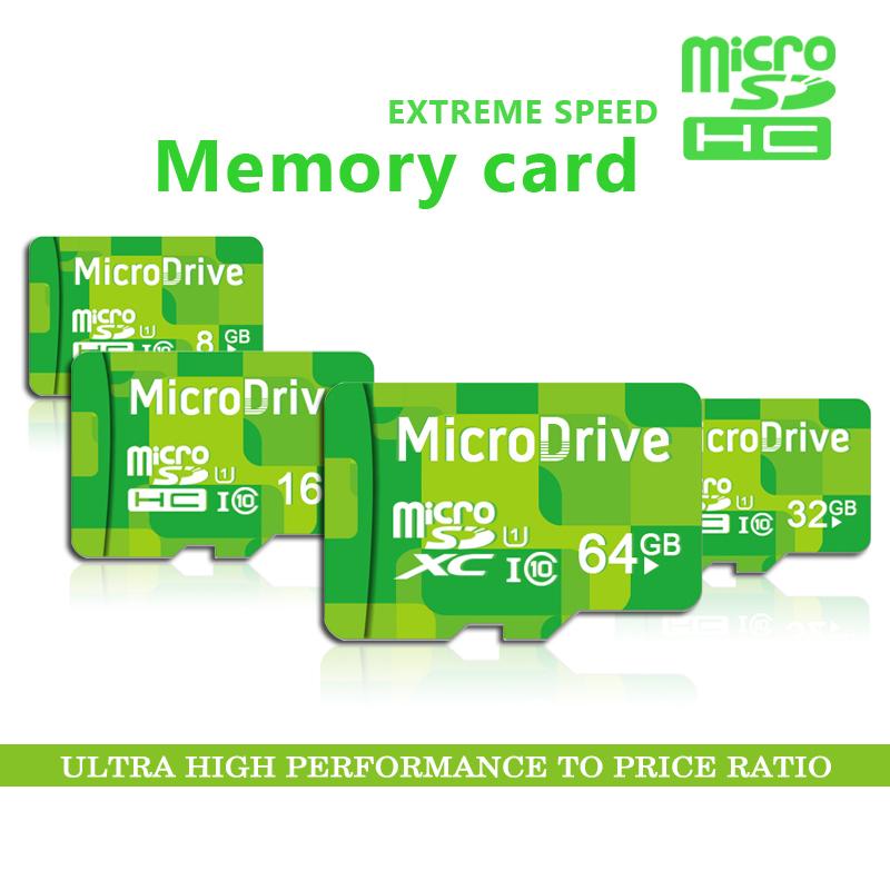 2015 Newest design! MicroDrive Brand Green micro sd card class 10 TF flash card 4gb 8gb 16gb 32gb 64gb memory card(China (Mainland))