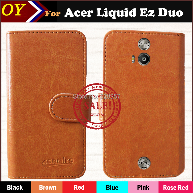 Sale! [6 Colors] Luxury Stand Wallet Flip Leather Case For Acer Liquid E2 DUO v370 Phone Bag Cover Vintage Book Style(China (Mainland))