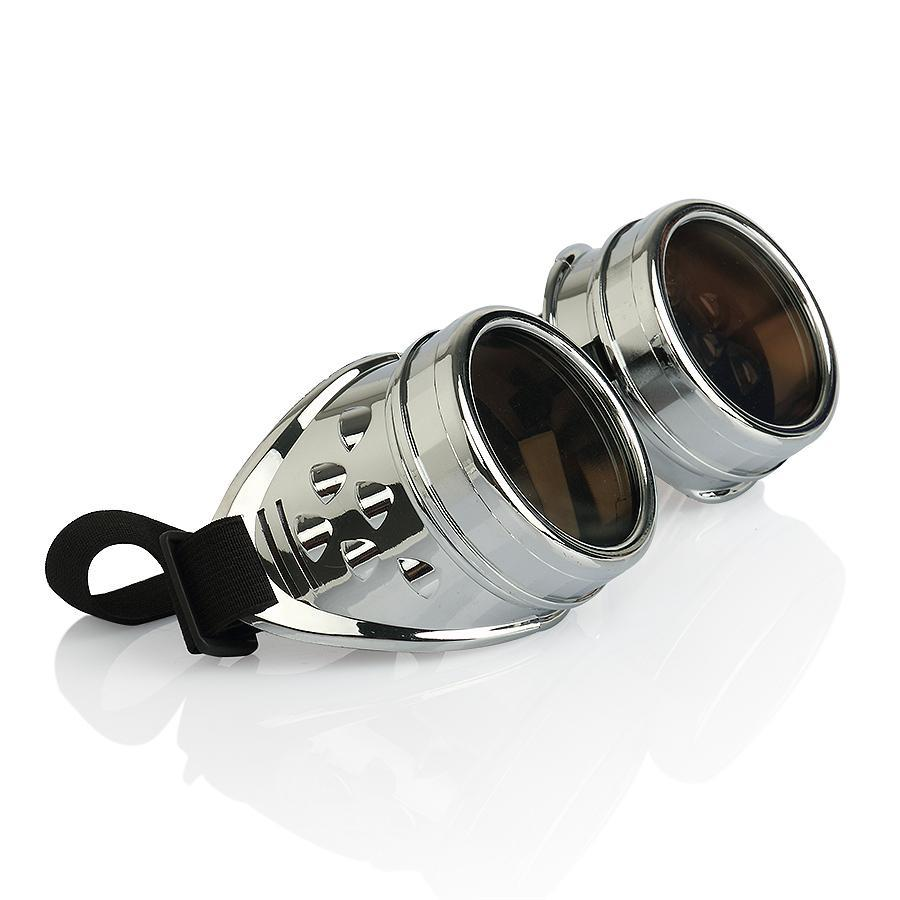 NEW 2014 CYBER GOGGLES STEAMPUNK WELDING GOTH COSPLAY VINTAGE GOGGLES Sunglasses RUSTIC Free Shipping(China (Mainland))
