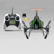 Free Shipping 2015 news SH 6047A 6 Axle Vehicle Rollover 3D UFO Helicopter 2.4G LCD Remote Control Drone fou kids as cute gift