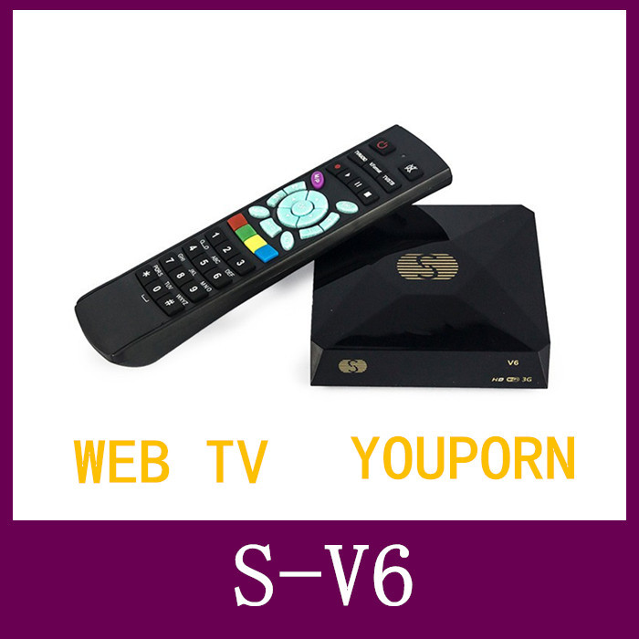 1pc Original S-V6 Mini HD Satellite Receiver Skybox V6 S Support CCCAMD Newcamd WEB TV USB Wifi 3G Biss Key Youporn Free Shiping(China (Mainland))