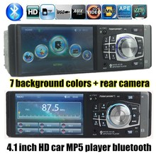 new 4.1'' TFT HD Car radio bluetooth MP5 Player 12V Car Audio Video MP5 FM USB  support rear Camera W/ Steering Remote Control(China (Mainland))