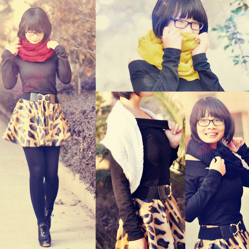 New Style Hot New Winter Woman Girl Knitted Scarves Shawl Wraps Neckerchief M2197(China (Mainland))