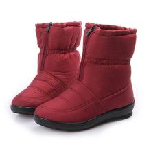 Botas de nieve 2016 de Invierno de la Marca Caliente antideslizantes Impermeables Botas de Mujer Zapatos de La Madre Ocasional de Algodón Otoño Invierno Botas de Mujer zapatos(China (Mainland))