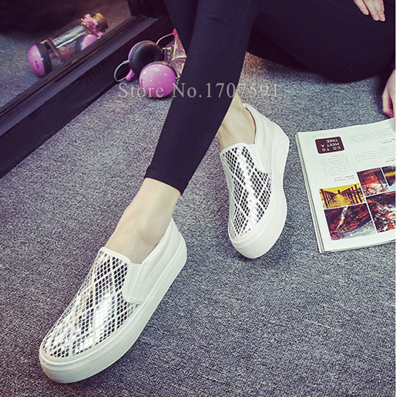 Hot sale 2016 new women casual shoes spring slip on canvas flat breathable black female shoes brand platform loafers espadrilles<br><br>Aliexpress