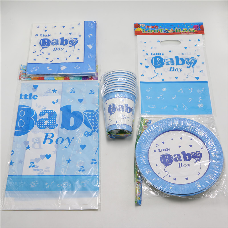 Kids boys 1st birthdaydecoration party favors baby shower for Baby boy shower decoration kits