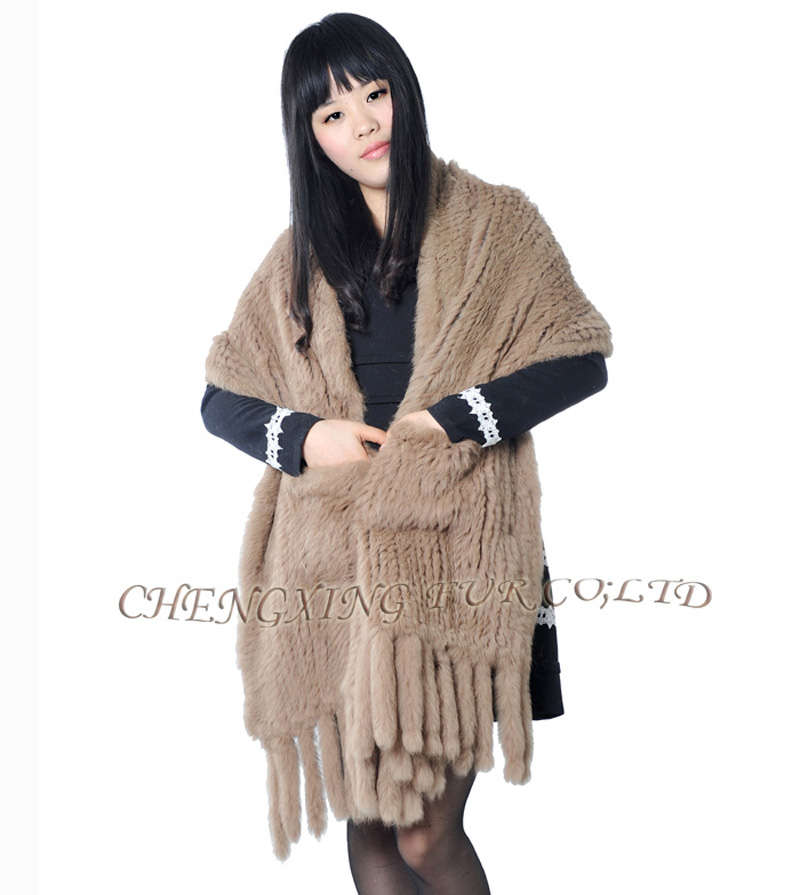CX-B-01A Handknitted Real Rabbit Fur Shawls Одежда и ак�е��уары<br><br><br>Aliexpress
