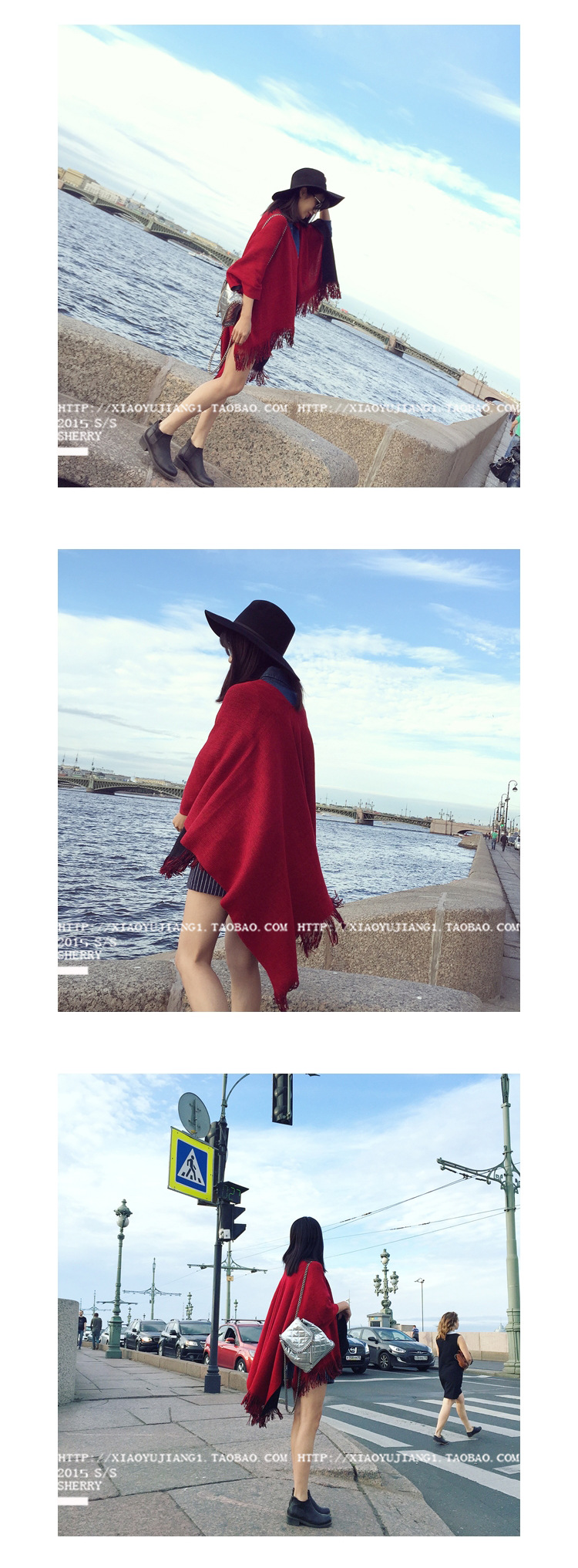 2016 Korean Winter Scarf Taobao explosion winter fringed shawl knitted scarf color red Free shipping