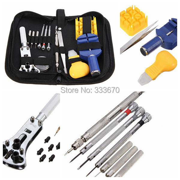Durable Portable New 13 Pcs Watchmaker Watch Repair Tool Set Kit Pin Remover Case Opener Adjuster(China (Mainland))