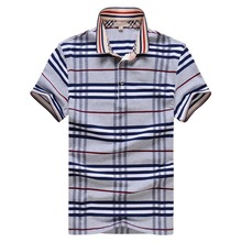 Polo New 2015 Summer Breathable Casual Camisa Polo Quality Cotton Slim Fit Striped Polo Shirts Man Short-Sleeved Free Shipping!