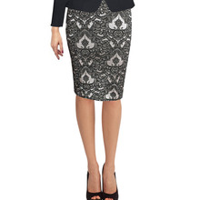 VfEmage Womens Elegant Tartan Solid Work Business Casual Slim Stretch Fitted Bodycon Knee Length High Waist Pencil Skirt 006(China (Mainland))