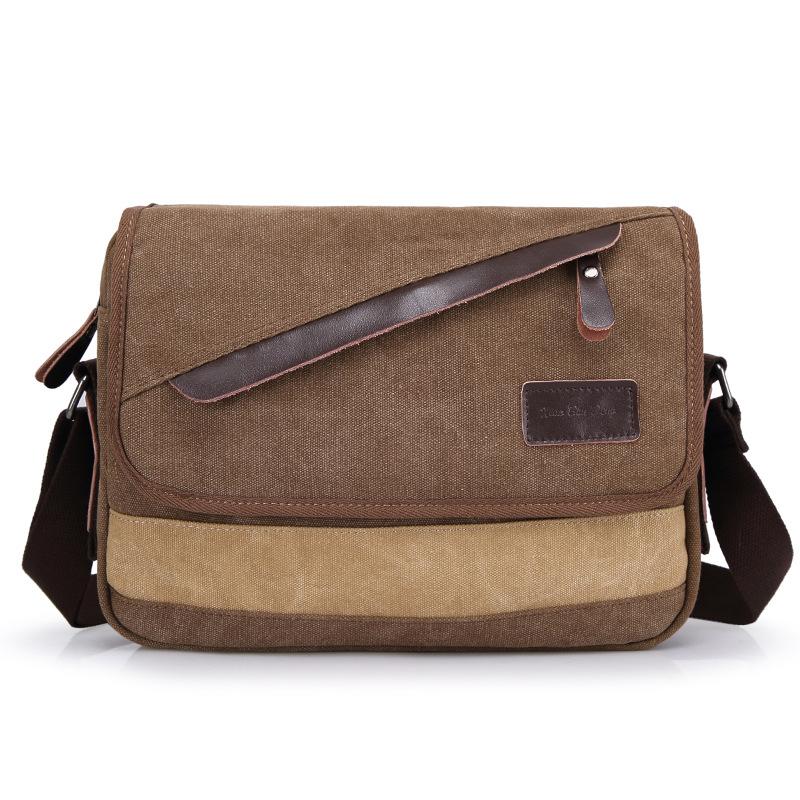 16 small bench Korean men's Canvas Bag Canvas Bag diagonal shopping leisure bag mobile phone bag(China (Mainland))