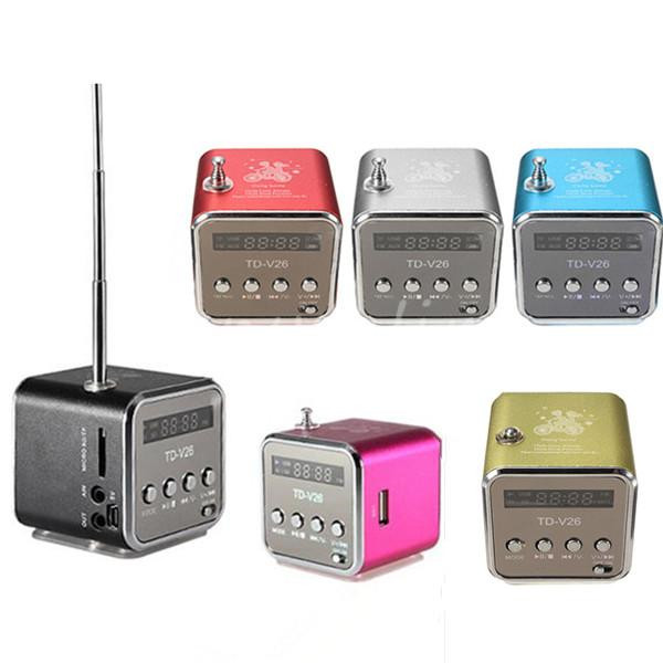 New High Quality Fashion Portable Micro USB Stereo Speaker FM Radio For iPad For iPhone For Samsung(China (Mainland))