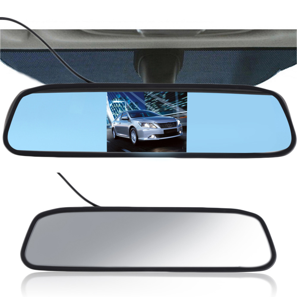 """5"""" Digital TFT LCD Screen Resolution 800480 16:9 Car Monitor Rearview Mirror Security Monitor Auto for Camera DVD VCR"""