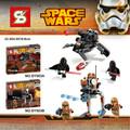 SY503 Star Wars Walking Machine KyloRen Assault Robot Minifigures Building Block Minifigure Toys Compatible Legoe